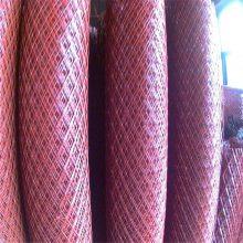 旺来防耐磨钢笆片 菱型围栏网 喷漆钢板网