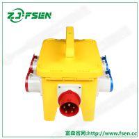 工业电源检修箱 新国标小五孔插座箱 标准型86底盒明装暗装插座