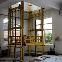 厂家销售吉林链条式升降机 固定剪叉式升降货梯