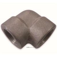 英制内螺纹45°锻造不锈钢弯接头2000磅