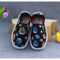 进万家鞋业泡沫底卡通图案儿童布鞋手工儿童帆布鞋库存处理儿童布鞋