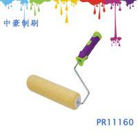 专业生产化纤绒布滚筒刷,双色手柄滚筒刷,橡胶手柄滚筒刷