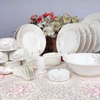 韩式骨瓷餐具特价批发陶瓷创意碗盘套装一件代发企业礼品定制LOGO