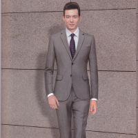 厂家定做职业男装 秋季纯色西服套装 高端商务职业西服定做