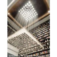 售楼部吊灯 现代吊线水晶灯 现代吊线水滴灯 现代艺术水滴吊灯 书房吊线水晶灯 现代吊线灯具定制设计