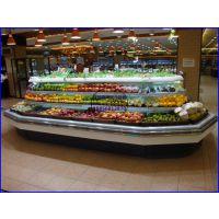 精品水果店冷藏展示柜 超市水果蔬菜保鲜柜 怀化八角环形蔬果风幕柜