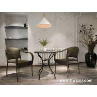 花园别墅PE藤编桌椅咖啡厅餐饮休闲桌椅馨宁居户外仿藤家具