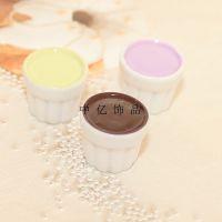 日本袖珍小物 咖啡饮料杯迷你食玩树脂配件 树脂配件果酱瓶