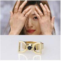 韩国明星同款戒指 来自星星的你全智贤配饰戒指批发 双D字母指环