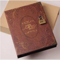 高档密码锁礼盒装复古diy相册本情侣影集创意自制手工粘贴式礼物
