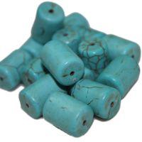天然12*16mm桶珠绿松石 圆柱体散珠 佛珠饰品配件绿松石桶珠