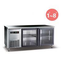 百利TG460W2-A卧式冷柜 不锈钢工作台厨房设备 餐饮冷藏操作台