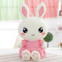 可爱填充毛绒玩具兔子厂家直销可来图打样设计定制