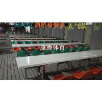 贵州百货食堂餐桌椅 休闲酒吧靠背餐桌 6人位连体桌椅热销康腾体育