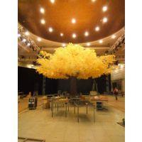 仿真银杏树 酒店大堂金色树 假银杏树 黄色叶仿真树