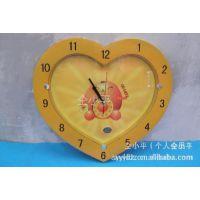 供应【宝石达018】卡通工艺石英钟、挂钟、客厅钟、心型多款计时器表