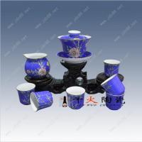 中秋节礼品 景德镇高档手绘茶具 高档陶瓷礼品
