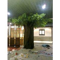 仿真包柱银杏树 绿色假银杏树室内厂家直销 广州仿真植物厂家仿真树定做