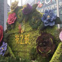梦幻城堡仿真榕树叶子植物墙绿植墙背景绿色草坪墙室内商场树藤类装饰花艺