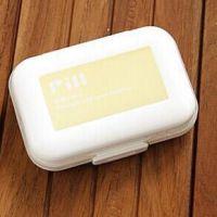 迷你8格 便携式塑料药盒  Pill Box PVC盒装收纳盒