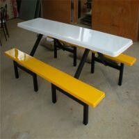 珠海8人连体餐桌椅定制 员工食堂餐桌椅厂家 款式多样