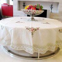 外贸酒店桌布餐桌布餐厅圆桌布定做桌子布欧式圆形茶几布