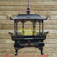 铸铁香炉厂家铸造大型寺庙长方形八龙柱香炉 庙门口大香炉