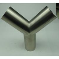 304/316L 不锈钢 焊接式Y型三通 卫生级 天目 等径 医药设备 管件厂家