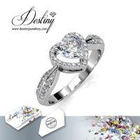 戴思妮 欧美风格戒指 采用施华洛世奇元素 超闪心形水晶戒指 女士饰品 厂家直销