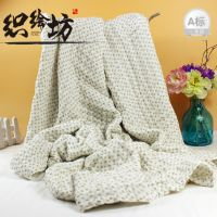 新款印花碎花纯棉纱布浴巾婴儿童六层褶皱超柔吸纯棉工厂现货