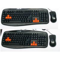 厂家直销 华硕有线键鼠套装 USB鼠标PS2键盘 网吧键鼠套装 抗暴力