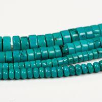 万汇 绿松石盘珠碟珠扁珠车轮珠片珠隔珠人工款散珠子DIY饰品配件