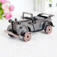 老爷车、铁皮车、汽车模型、怀旧复古、仿真车模、家居摆件Q4-1