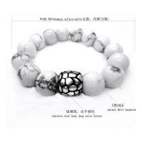 好印象专供 潮款 天然白松石钛钢珠手链 女款