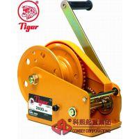 进口台湾虎牌手动绞车 BHW-2600 2600磅手摇绞盘