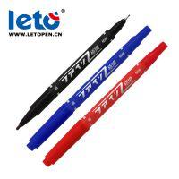 乐途 Leto PM-120小双头三色油性记号笔厂家直销勾线笔儿童绘画笔