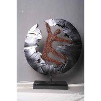 雕塑作品破天荒 金属创意雕塑摆件 金属工艺品 人物金属工艺品 不锈钢金属工艺品 电镀金属工艺品