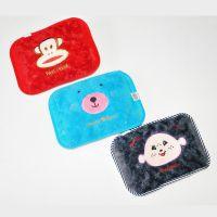 厂家供应枕型双插热水袋 卡通韩版电热水袋 超柔加棉充电热水袋