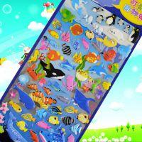 广东深圳厂家 韩版卡通贴纸 儿童贴纸定制 3d环保泡泡贴 聚美 可提供材料检查报告