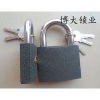 直开挂锁厂家 灰铁锁工厂 铁挂锁 20mm灰铁锁 箱包锁