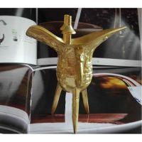 三脚酒杯 古代铜酒杯 仿古乾隆杯 黄铜摆件礼品批发 铜制工艺品