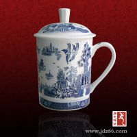 会议茶杯加字 高档陶瓷杯定制厂家