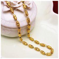 铜镀真金 转运珠仿黄金项饰项链 仿真饰品批发 久不褪色 品质保证