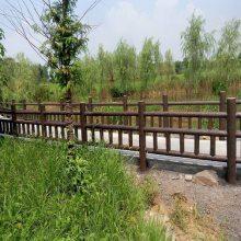 四川驰升景观水泥仿木栏杆 仿木围栏