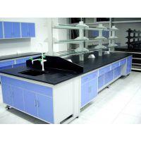 钢木结构边台 实验室家具学校办公设备 可定制实验台 禄米