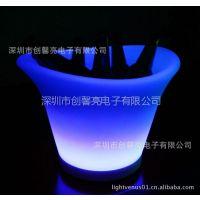 供应【流光飞舞】LED七彩闪光塑胶冰桶 梦幻防摔时尚冰桶