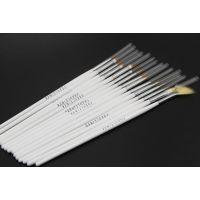厂家批发 实用美甲彩绘笔 画花笔 白杆化妆刷套装 美甲专用甲笔