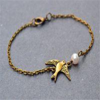 欧美外贸厂家直销速卖通Ebay爆款简约时尚简约小鸟珍珠手链