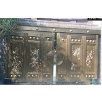 高档平移铜门电动平移铜门别墅铜门庭院铜门