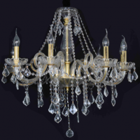 CVMA厂家直销 6007C-8A欧式蜡烛水晶吊灯酒店复试楼客厅水晶吊灯白炽灯